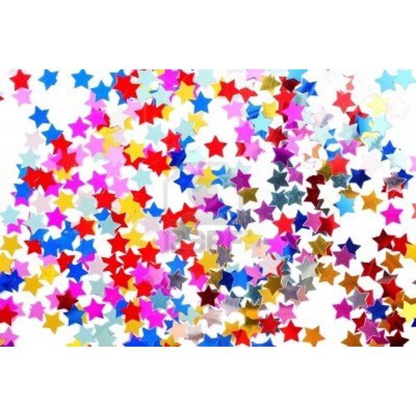 Festa Palhaço - novidades - 1Kg Confettis Estrela papel de seda