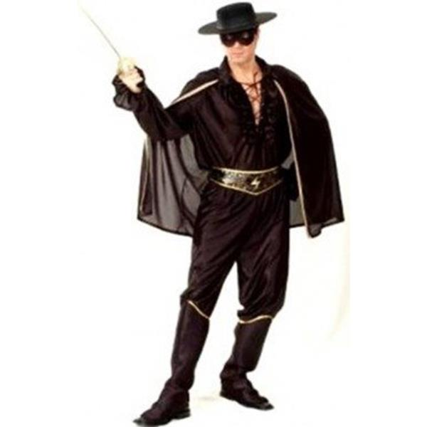 Fatos Carnaval | Homem - Clássicos e Heróis B.D. | Homem - Fato Zorro, Adulto