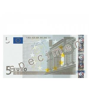 Notas papel flash 5 euros