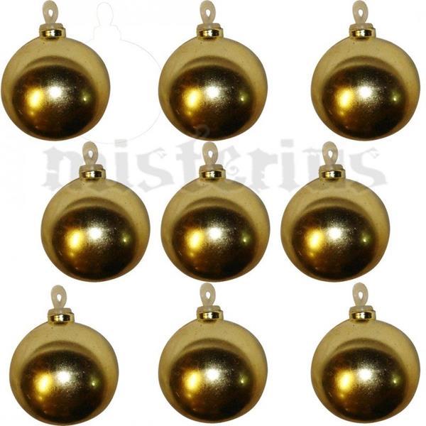 Bolas de Natal Douradas, 3 cm