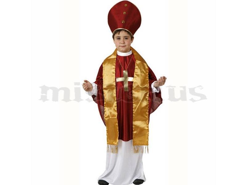 Fatos Carnaval | Criança Menino - Religiões Várias | Menino - Fato Bispo, criança
