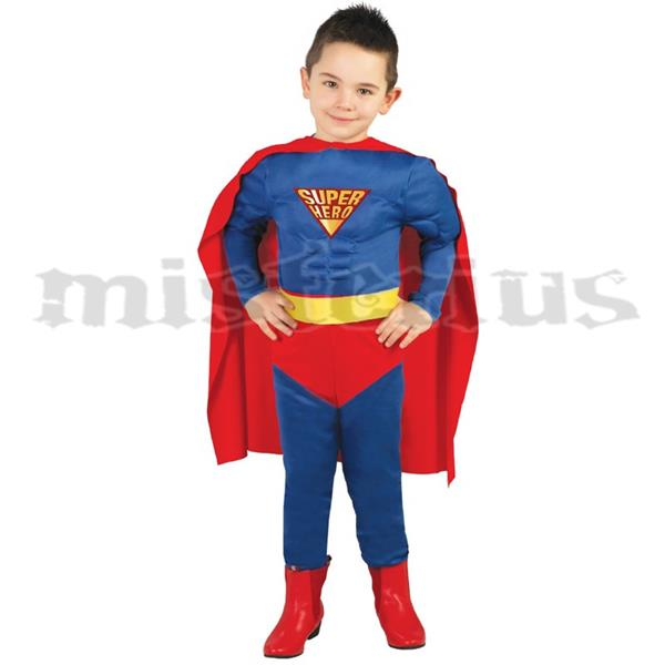 Fato Super Homem Musculado, criança