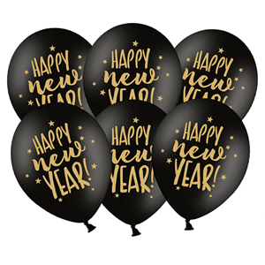 bcc8ddd9fde2d Balão Preto Látex Happy New Year