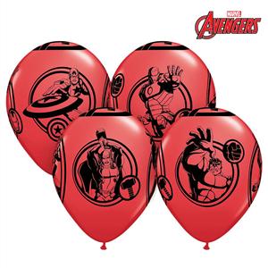 ae3256ea7251a Balões Avengers Vermelhos em Látex
