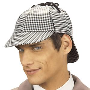 Chapéu de Detective Xadrez Preto e Branco 5da5d0ada19