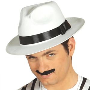 6d181591268c2 Chapéu Gangster Branco Feltro