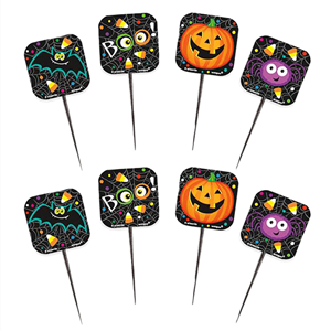Pack de 8 Palitos Decorativos Halloween