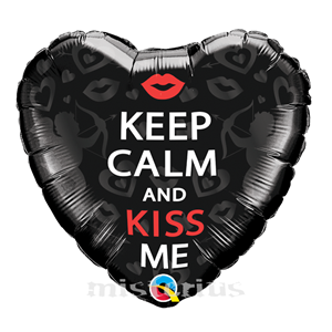 Balão Foil Keep Calm and Kiss