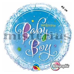 Balao Foil Welcome Baby Boy
