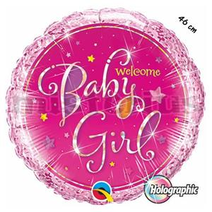 Balao Foil Welcome Baby Girl