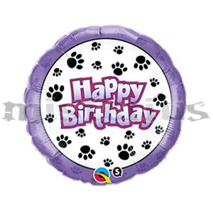 Balão Happy Birthday Patas Foil 46 cm