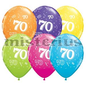 Balao Latex 70 Anos 6 und Multicor