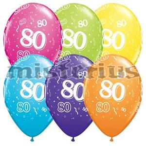 Balao Latex 80 Anos 6 und Multicor