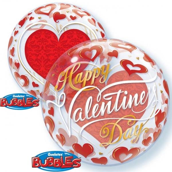 Bubble Valentine´s Red Heart´s