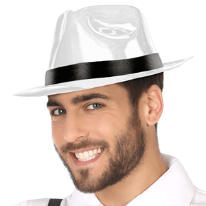 Chapéu Gangster Plástico Branco c08adb27edd