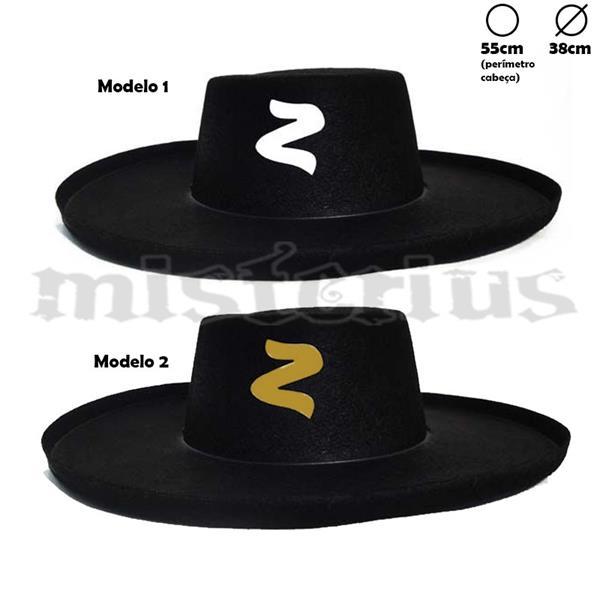 Chapéu Zorro Adulto  c512358414d