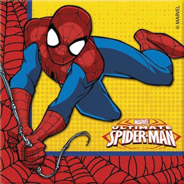 Guardanapos Spiderman, pack 20